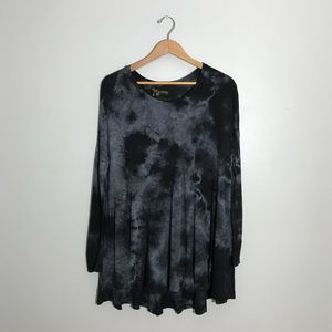 Show Me Your Mumu tie dye tunic dress black gray